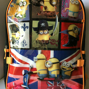 """DESPICABLE ME MINIONS 16"""" BACKPACK w/Lunch Pack"""
